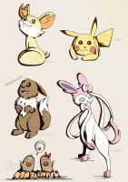 5 Pokemon Sketches by sarroora