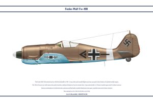 Fw190A4 JG2 5 by WS-Clave
