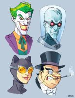 Bat Villains in Color by D-MAC