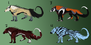 Lycanoid Adoptables (Batch #1) *1/4 OPEN) by Renotype
