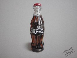 Coca-Cola bottle (drawing by Marcello Barenghi) by marcellobarenghi