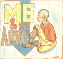 Aang- Me and My Arrow by strangerthanever
