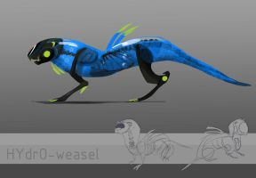 ADOBTABLE! Hydro-weasel (closed) Auction#20 by Energony