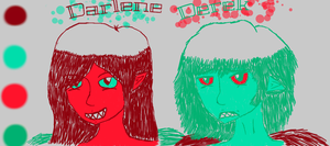 Derek and Darlene Color Scheme Drawing by CALIBORNOuS