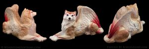 Nyra Barn Owl Wolf by EchoesLight