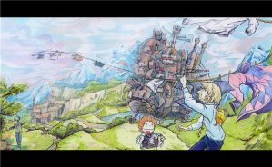 Howl's Moving Castle by Kan-z-z-z-akI