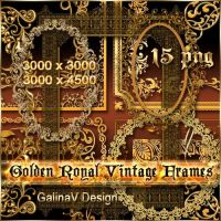 Golden Royal Vintage Frames by GalinaV
