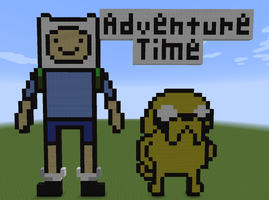 Minecraft - Jake and Fin by Unstable-Life