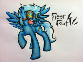 Wonderbolts Fleetfoot Marker Drawing by XTiMe-WaRpEdX