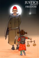 JUSTICE - DIGNITY - FREEDOM -2 by taoufiq