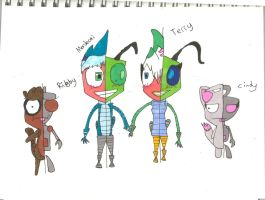 Regular Show Invader Zim Style!!!!!! by june565