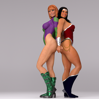 Diana and Caitlin, redux by LuxCompagno