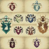 Game of thrones Coat Of Arms German Style by janp8