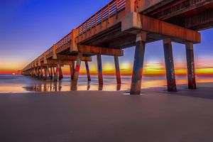 Rainbow Pier by 904PhotoPhactory