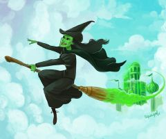 I'm flying high defying gravity by squeegool