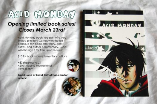 ACID MONDAY LIMITED BOOK SALES by AcidMonday