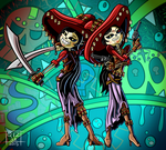 Book of Life - The Adelita Twins by Quetzalcoatl2k