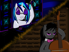 Vinyl and Octavia Wallpaper by Zelpheropolis