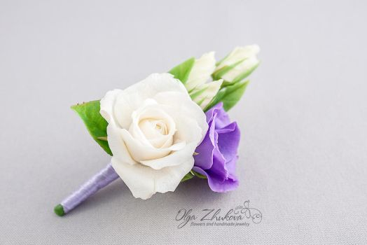 Boutonniere to the groom by polyflowers
