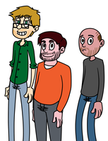Ricky Steve and Karl by Toxicmongoose