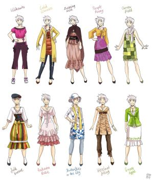 Various female clothes 4 by meago