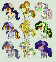 Halloween Pony Adopts 2 [OPEN AND CHEAP] by Color-Clouds