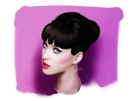 Katy Perry Digital Portrait by LuisFaus