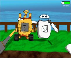 Wall.E Crank and EveCrank Selfie by Dawn-of-Zealoth