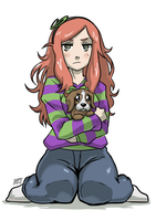 Vivian and Sad Puppie by KukuruyoArt