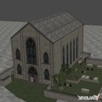 CHURCH AND CEMETERY by Oo-FiL-oO
