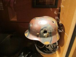 Battle Damaged German Helmet by Valkyrja-Skuld
