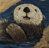 Sea Otter Painting by MLadyLettis