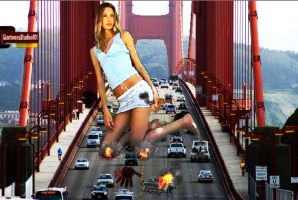 Giantess Yulia Causes Traffic In San Fransisco by GiantessStudios101