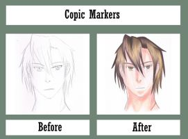 Copic Markers Before and After by animeninjayaya
