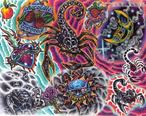Scorpion Tattoo Flash | Tribal Tattoo Flash Designs Gallery