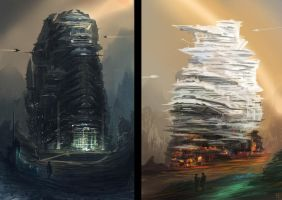 Twins towers by FlorentLlamas
