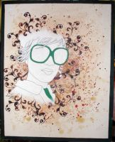Woman in Green Glasses by Segerud