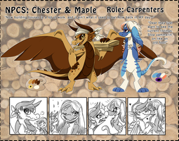 NPC: Chester and Maple by Wyngrew