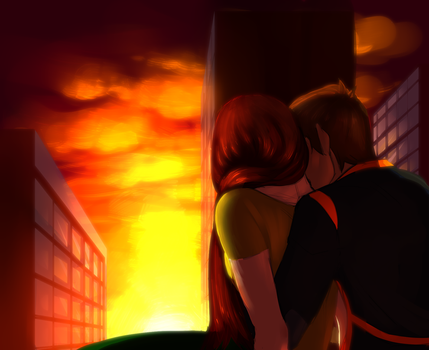 rooftop by Akimichiko