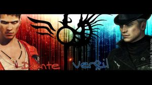 Wallpaper Dante VS Vergil 1600*900 by Camille-D-Sparda