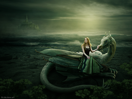 Girl and Dragon by Hieu-Art