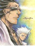BLEACH kenpachi,and hitsugaya by Vlad15