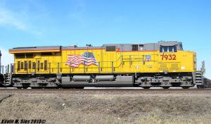 Brand New Union Pacific # 7932 in Dupo, IL by EternalFlame1891