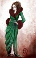 Woman in Furs by Oniko-art