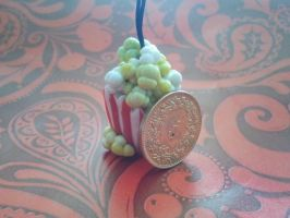 Polymer clay popcorn by Kittychen226