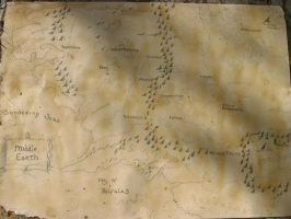 LotR map dyed by bunnygirl16