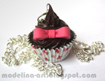 Chocolate cupcake pendant by Lovely-Ebru