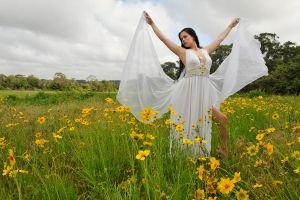 Stacey frolics in flowers 1 by wildplaces