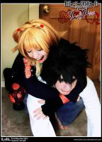 Death Note Cosplay: LxMisa: GLOMP by Redustrial-Ruin