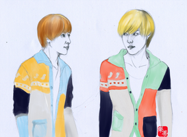 KrisYeol Couple Sweaters by KagomeHikari